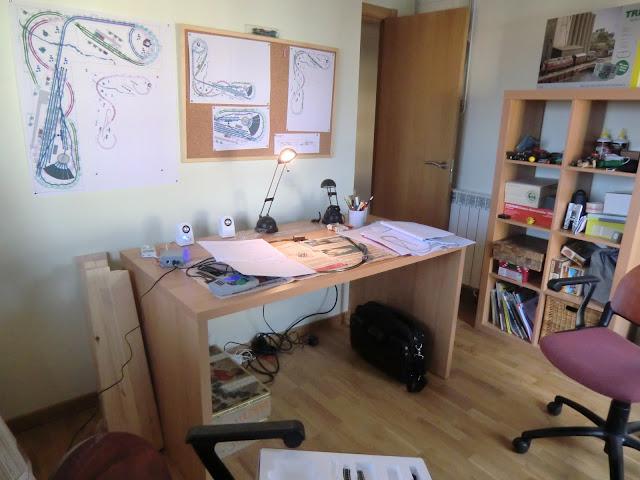 lugar de trabajo maqueta inicio construcción