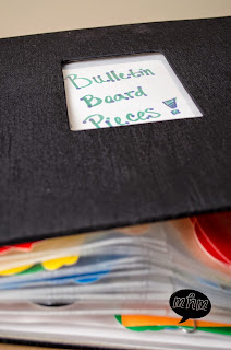 Bulletin Board Letter Storage