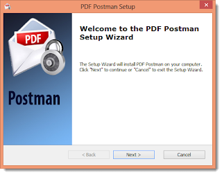 "Image shows Wizard displaying the message ""Welcome to the DPF Postman Setup Wizard."""