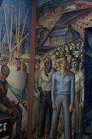 Mural depicting 1934 shoremen strike