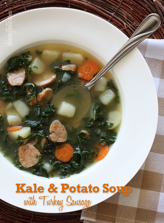 Kale and Potato Soup with Turkey Sausage | Skinnytaste