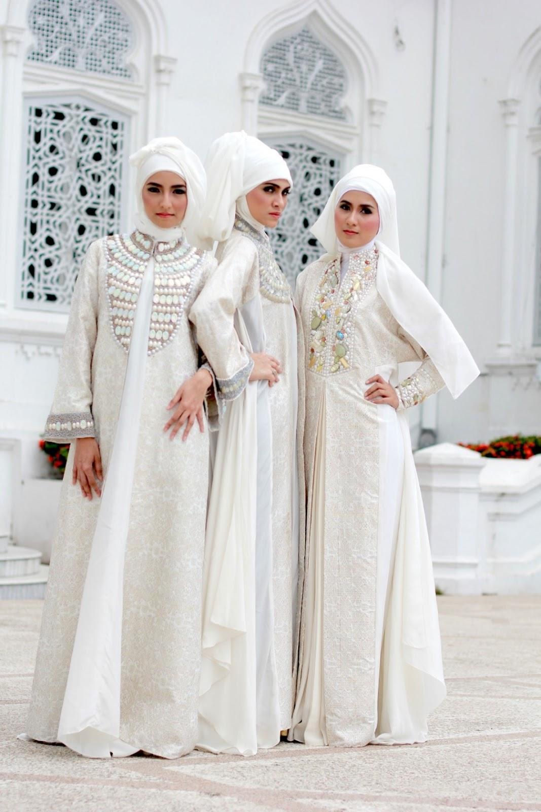 model baju pengantin muslim disain terbaru cocok bagi muslimah dengan