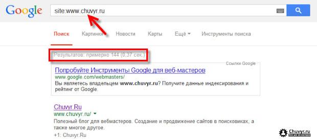 Использование оператора site для проверки проиндексированных страниц в Google