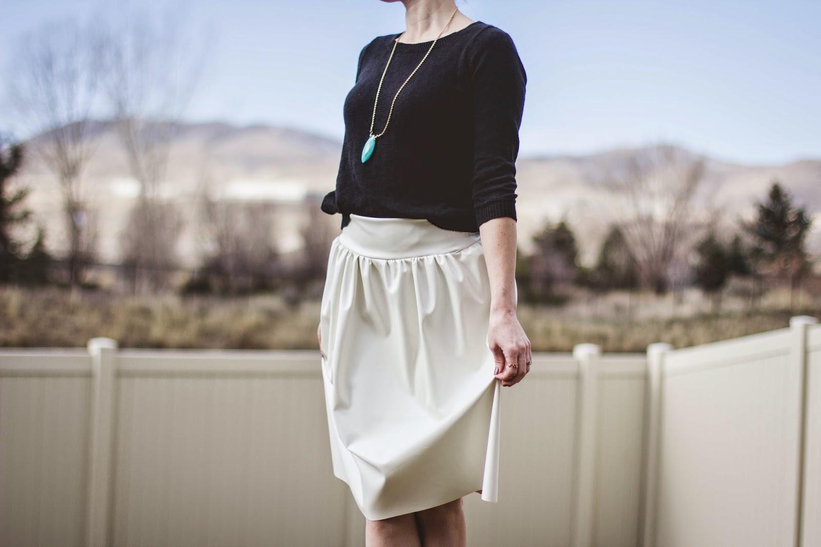 DIY Leather Skirt