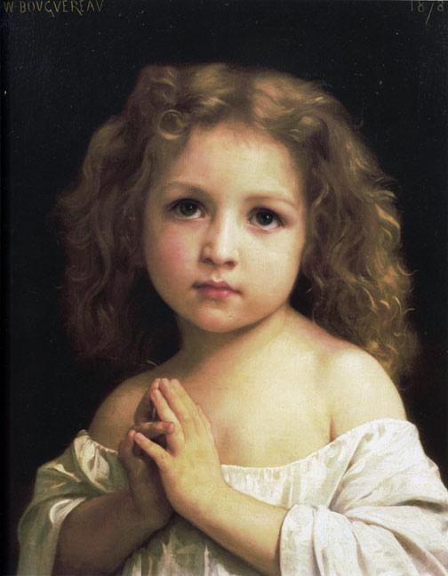 prayer,cute girl,William Adolphe Bouguereau