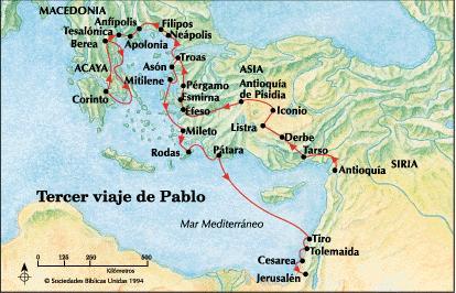 m s biblia viajes del ap stol pablo mapas