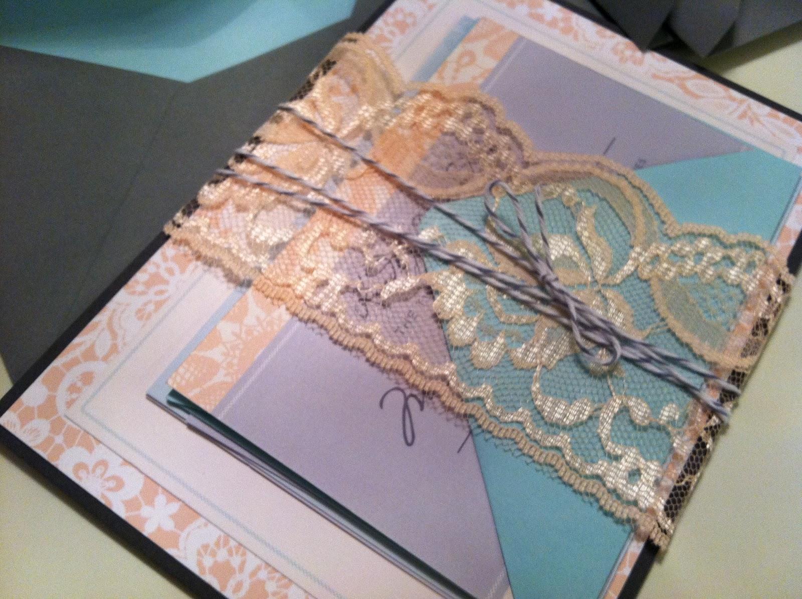 Lace Wedding Invitation Assembly