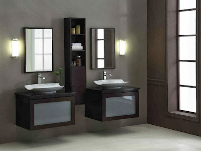 Wall hanging vanities