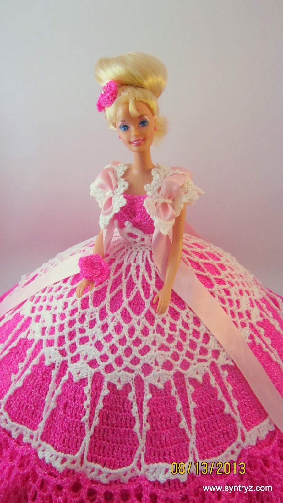 Syntryz Stitches Pink And White Bed Doll