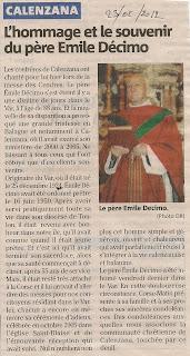 Pére Emile Décimo, Hommage