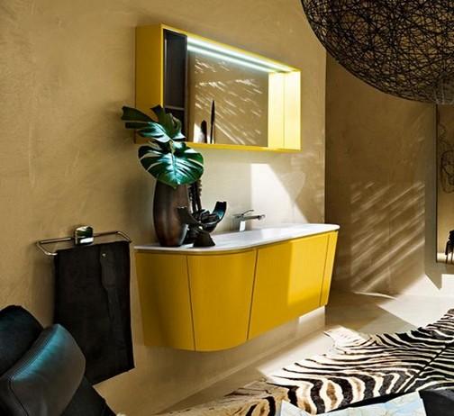 Baños Modernos Amarillos:Baño Moderno en Color Amarillo