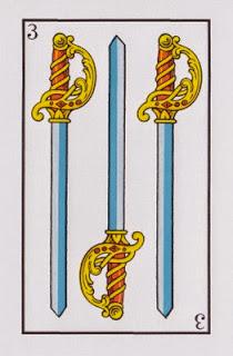 tres de espadas baraja epañola