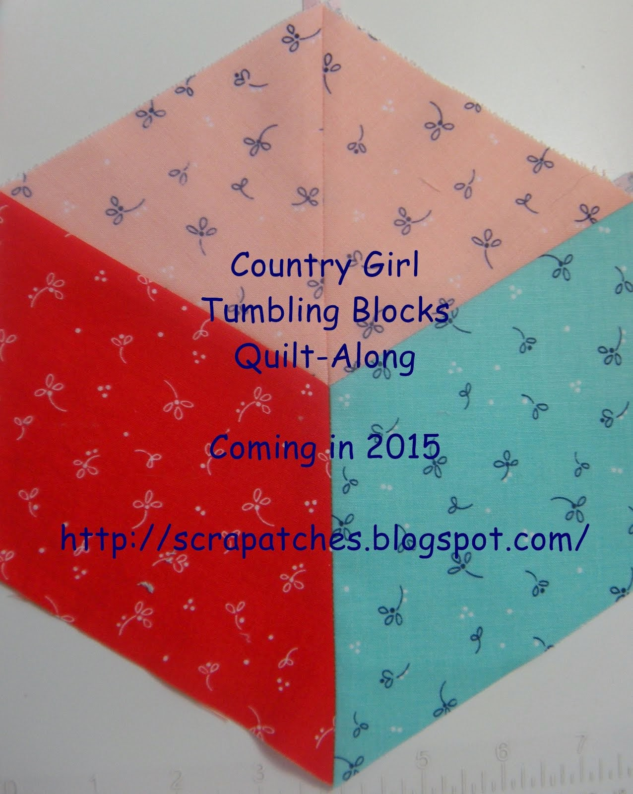 Country Girl Tumbling Blocks Quilt-Along