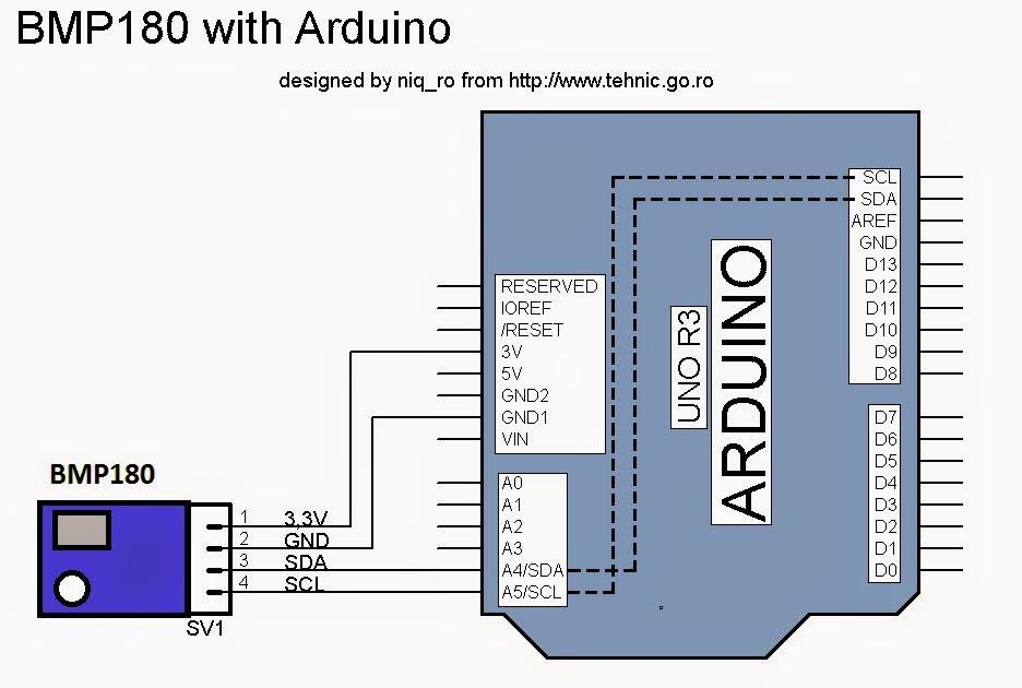 Arduino tehniq bmp sensor and