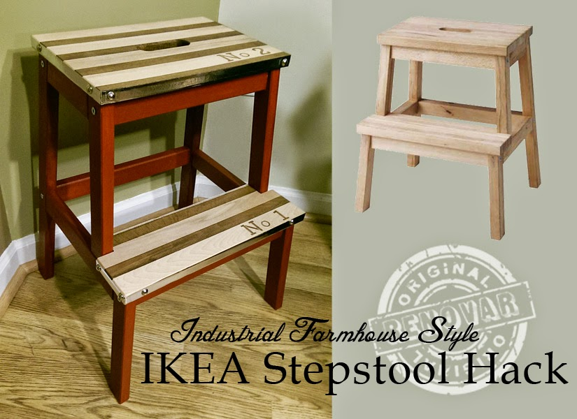 10 COLORFUL Before and After Features : Industrial-Farmhouse Style Stepstool