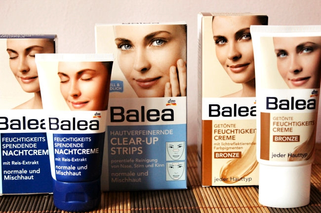 Balea: hidrantna nocna krema, tonirana dnevna krema, clear-up strips. Balea- Night cream, clear-up strips, tinted moisturizer.