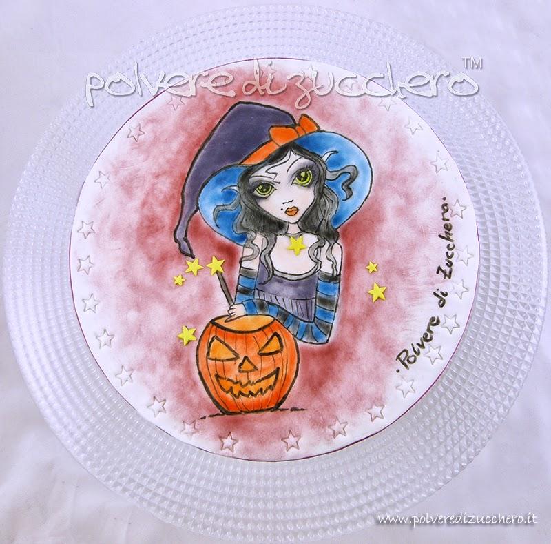Halloween Cupcakes Biscotti Cialda Decorata E Torta