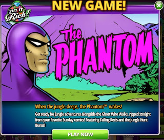 The Phantom is a new game at Hit It Rich! Casino Slots