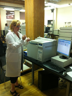 Deandra Grant at Gas Chromatography Training at Axion Labs
