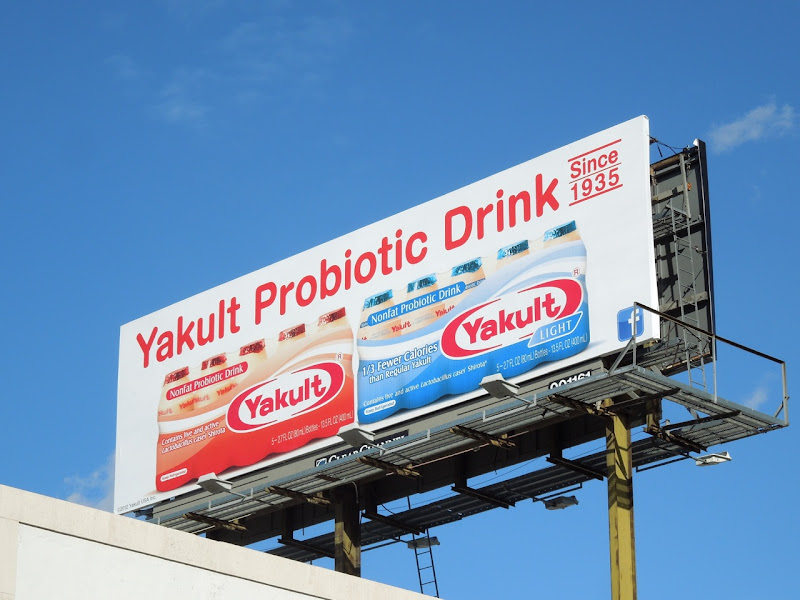 Yakult Probiotic drink billboard Hollywood