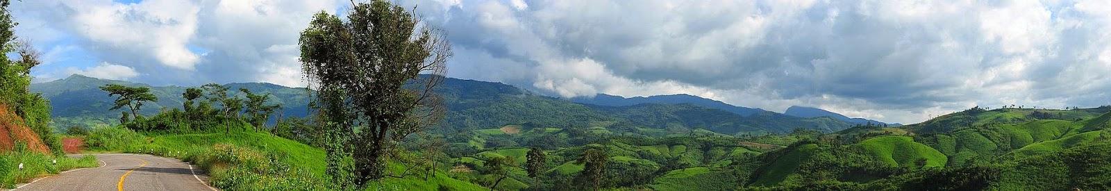 Landschaft nach Regenzeit