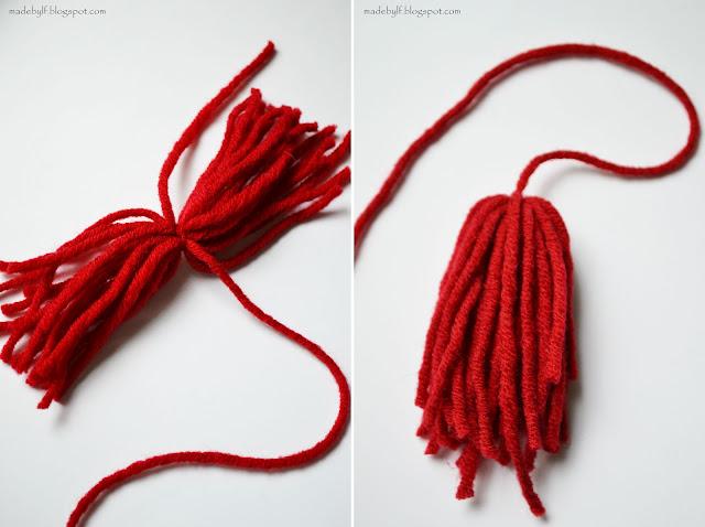 Как сделать кисть из ниток на шарфе