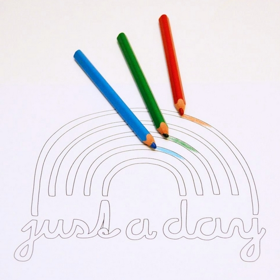 Just a rainbow day free printable