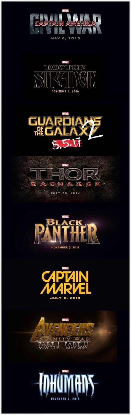 WW - Filem Marvel's Akan Datang 2016-2019