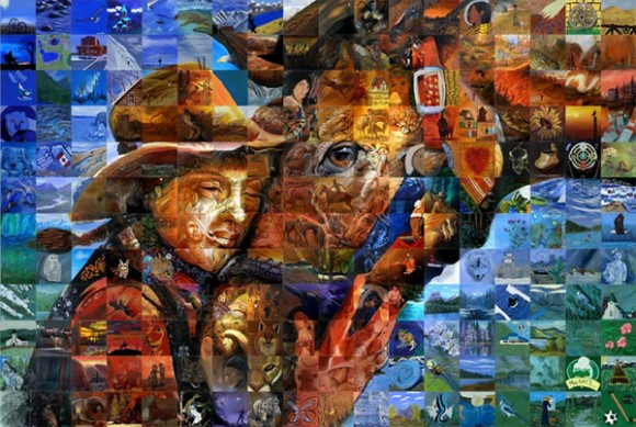 The Mosaic Art: Mixing of hundreds of painting To Shape a Final Amazing Murals
