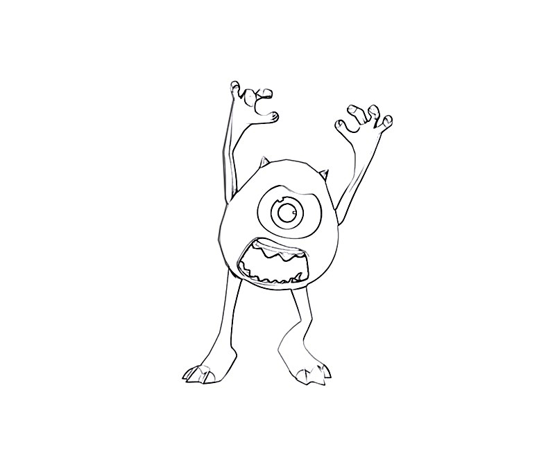 #8 Monsters University Coloring Page