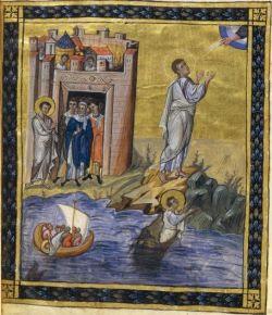 Historia de Jonás en una miniatura de un manuscrito del siglo X