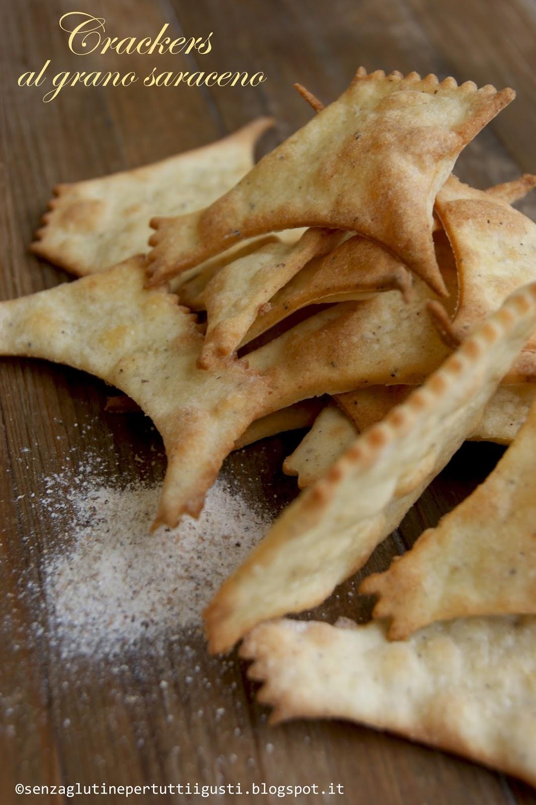 crackers senza glutine al grano saraceno per il 100% gluten free (fri)day