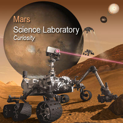 Mars Science Laboratory (MSL) Curiosity Rover. Launch: 25 November 2011. Will arrive in Mars on 5 August 2012. NASA + JPL + Ren@rt, 2011.