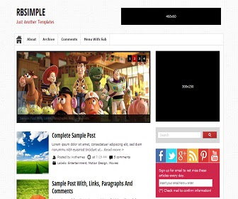 RBSimple Ressponsive Blogger Template