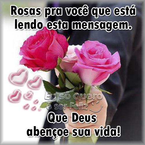 Rosas para você que está lendo esta mensagem. Que Deus abençoe sua vida!