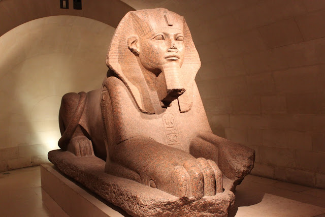 Egyptian Antique in Lourve Museum in Paris, France