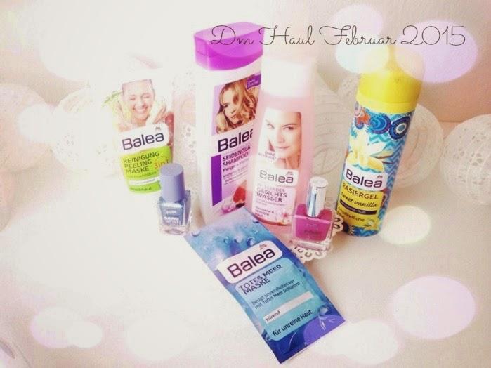dm Haul Februar 2015 Einkauf und Review Balea und P2 Beauty Produkte