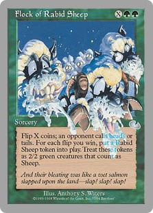 Magic the Gathering, sheep, card