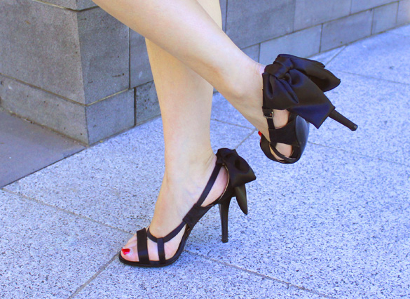 Zara Black Bow Shoes