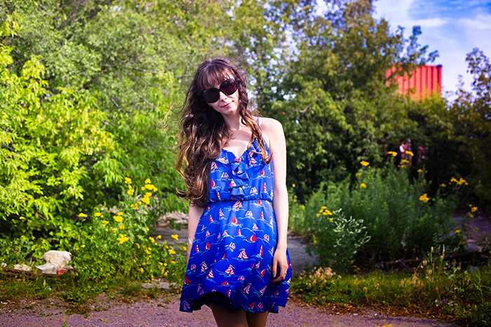 Ruche-Sailboat-Dress