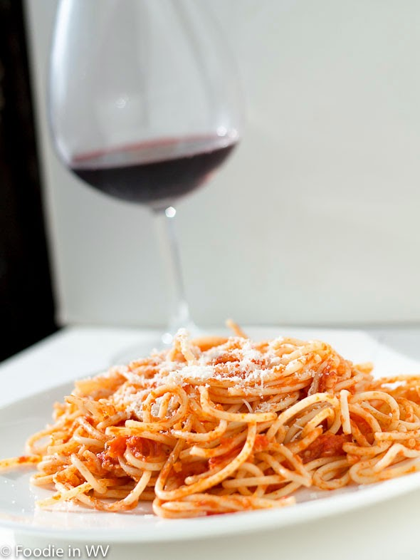 Spaghetti with Butter Roasted Tomato Sauce
