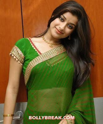 Madhurima in transparent green sari - (4) - Madhurima Unseen Photos