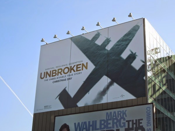 Giant Unbroken airplane billboard