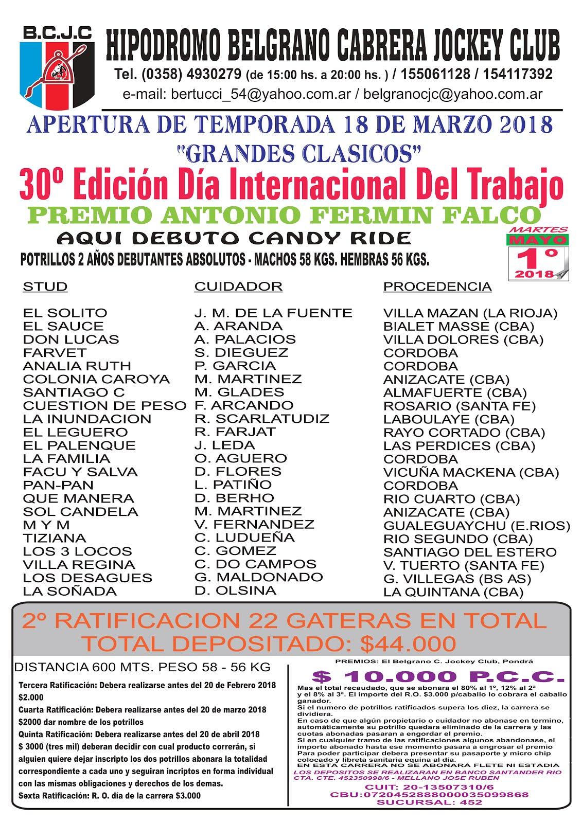 GRAL CABRERA 1 DE MAYO