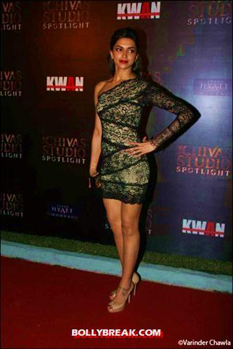 Deepika Padukone in Black Lace Dress - Bollywood Actresses Wearing Lace Dresses