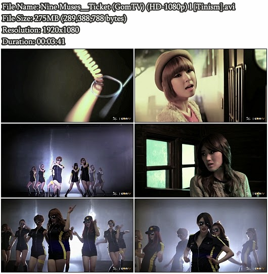 Download MV Nine Muses - Ticket (GomTV Full HD 1080p)