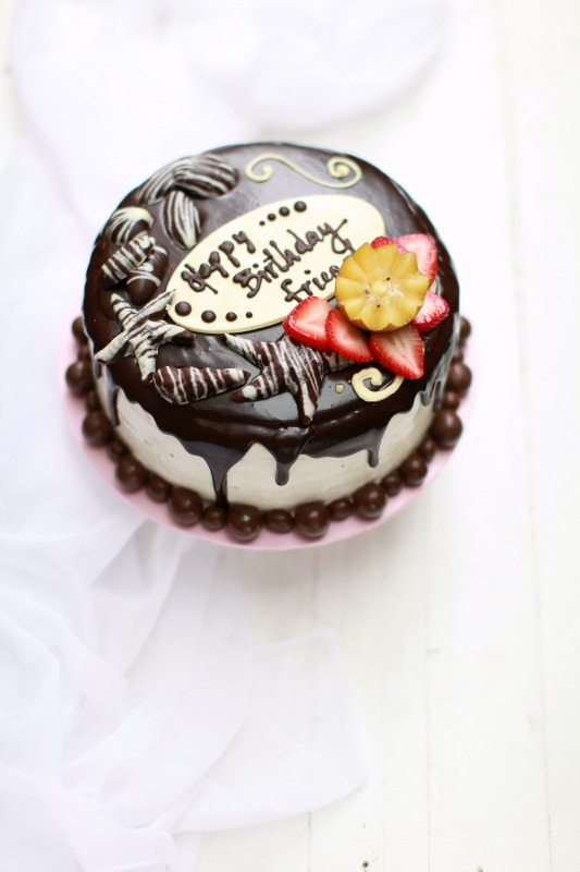 Birthday Cake Kek Coklat masam manis