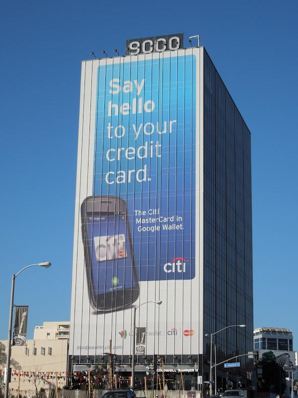 Giant Citi credit card billboard