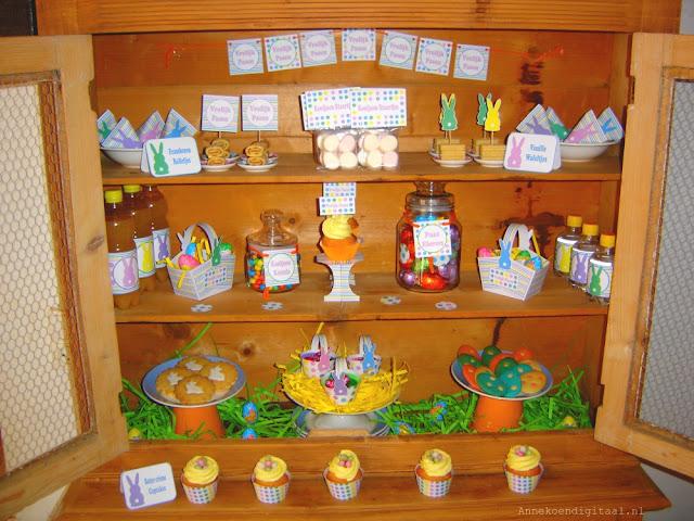 Pasen sweet table