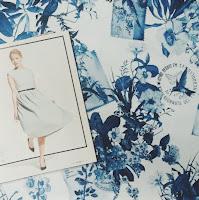 Idee Sommerkleid mit Porzellandruck